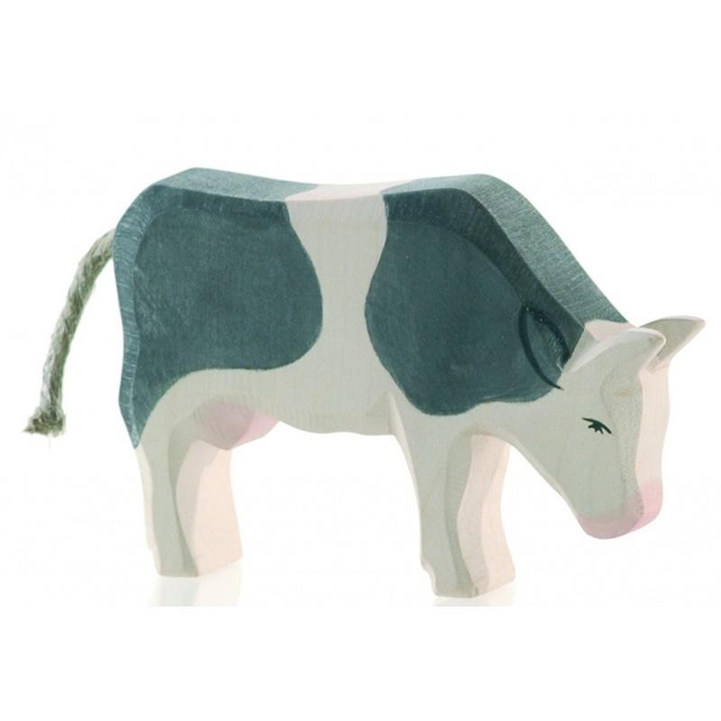 Zwartbonte koe etend, Ostheimer