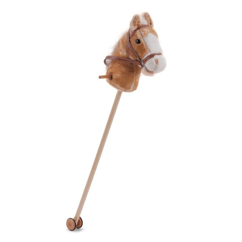 Stokpaard lichtbruin, New Classic Toys