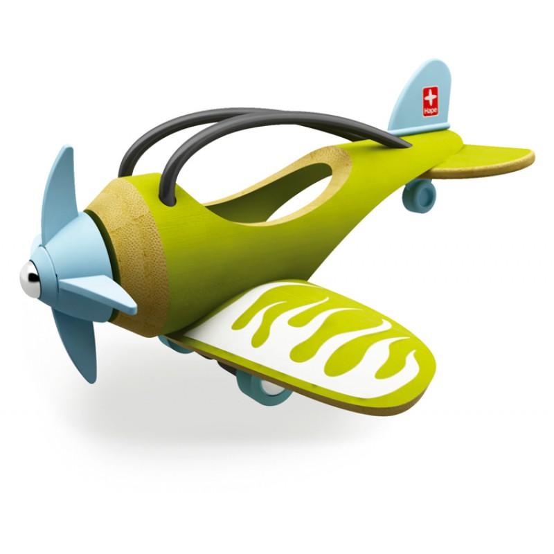 Bamboe speelgoedvliegtuig, Hape
