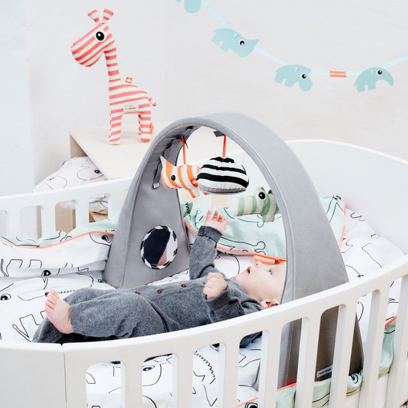 baby activity gym done by deer. Black Bedroom Furniture Sets. Home Design Ideas