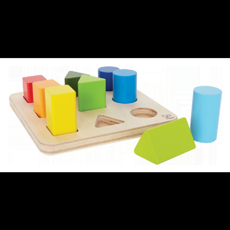 Kleuren- en vormenpuzzel, Hape