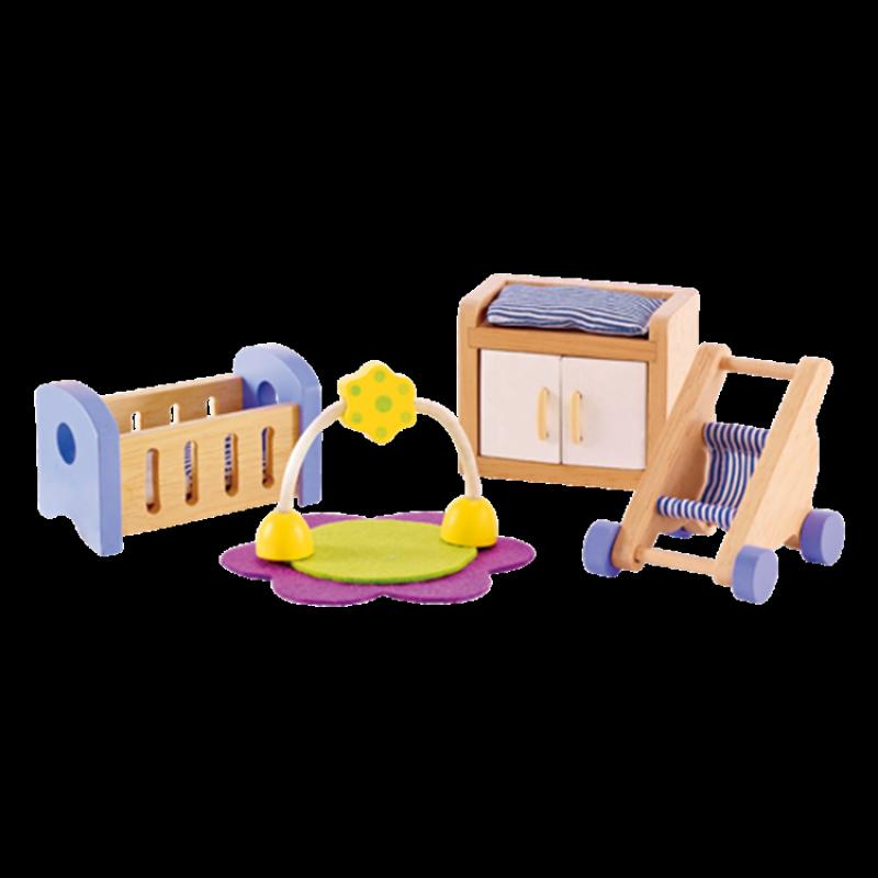Babykamer poppenhuis, Hape
