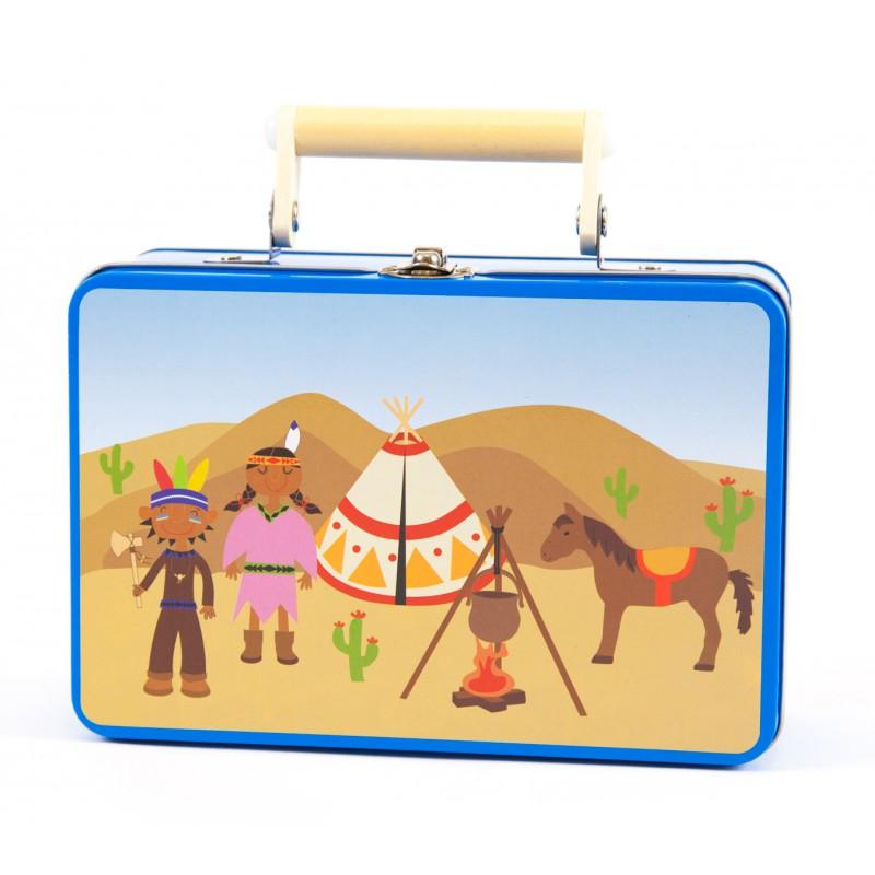 Indianenset in koffer