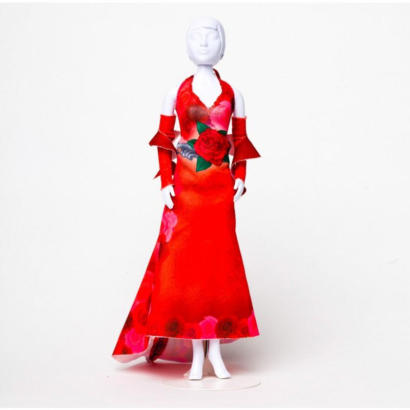 Mary Red Roses, kledingset Dress Your Doll