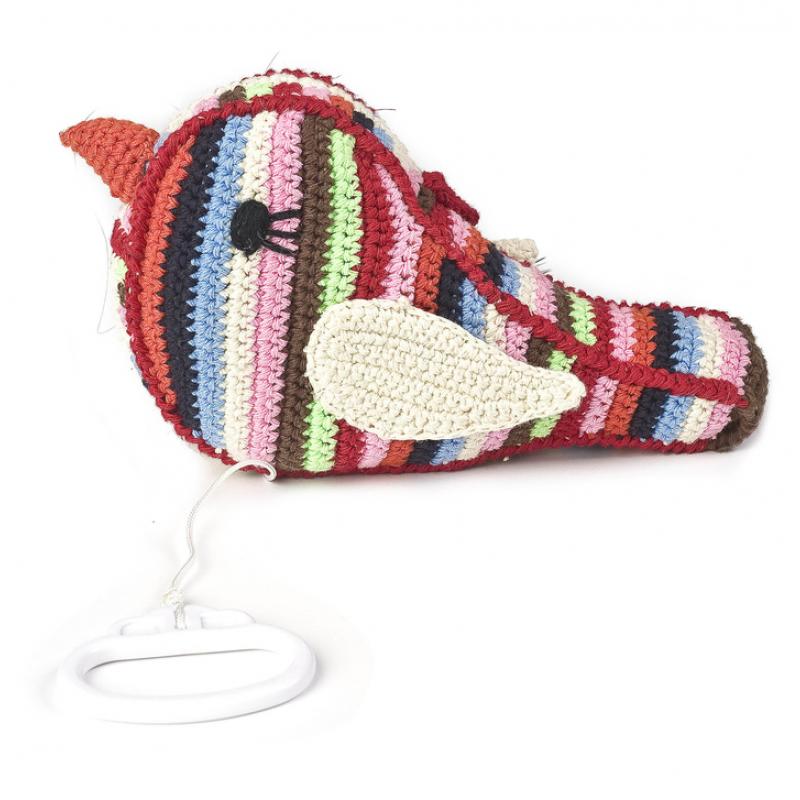Muziekdoos vogel met trekkoord, Anne-Claire Petit