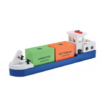 Rijnaak met containers, New Classic Toys