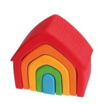 Gekleurde stapelelementen huis, Grimm's