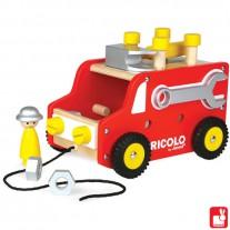 Vrachtwagen met gereedschap, Janod Redmaster