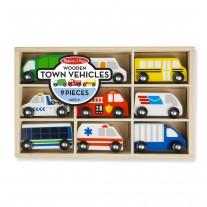 Houten auto's stad, Melissa & Doug