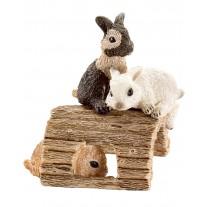Jonge konijntjes spelend, Schleich