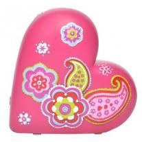 Spaarpot Paisley hart, Bobble art