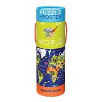 Puzzel & poster De Wereld, Crocodile Creek