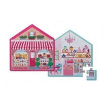 Dubbelzijdige puzzel Little Sweet Shop 24 st, Crocodile Creek