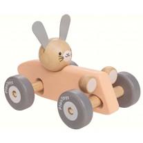 Wiebel raceauto konijn, Plan Toys