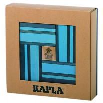 40 Kapla plankjes, licht- en donkerblauw met voorbeeldboek