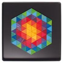 Magneetpuzzel hexagon driehoeken, Grimm's