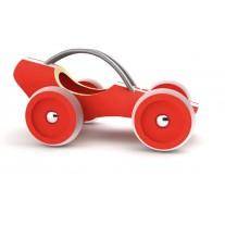 Bamboe raceauto rood, Hape