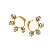 2 Bellenarmbanden met klittenband, geel