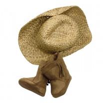Cowboyhoed en westernlaarzen pop XL, Goetz