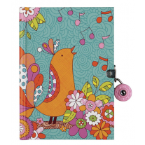 Dagboek zangvogel met slot, Mudpuppy