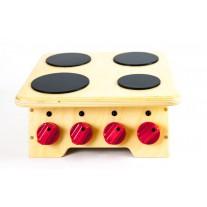 Houten speelgoedfornuis tafelmodel, Van Dijk