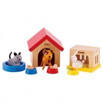 Huisdieren poppenhuis, Hape