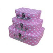 Koffertje Hearts Pink, Cara Caro