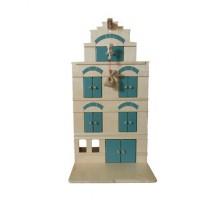 Groot houten pakhuis met takel groen, Van Dijk