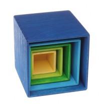 Vierkante houten stapelbakjes, Grimm's