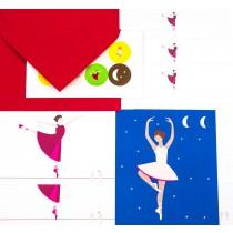 Schrijfset Ballerina roze