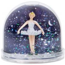 Glitter sneeuwbol ballerina bij nacht