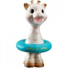 Sophie de Giraf badspeeltje met zwemband blauw