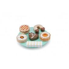 Houten koekjes op schaaltje