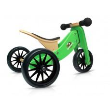 11.11 Kinderfeets Tiny Tot groen loopfiets nieuwe wielen