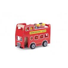 Houten City Tour bus met figuurtjes