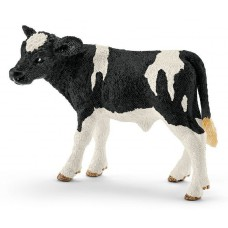 Holstein zwartbont kalfje, Schleich