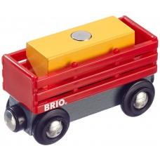 Treinwagon met hooibaal, Brio