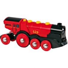 Locomotief op batterij 'Rode Lola', Brio