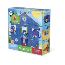 Little Architect blokpuzzel blauw, Crocodile Creek