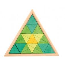 Houten blokpuzzel driehoek, Grimm's