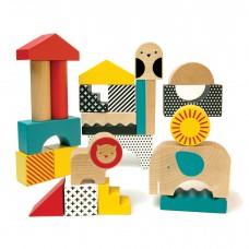 Animal Town houten blokken, Petit Collage