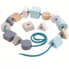 Kralenset geo vormen, Plan Toys