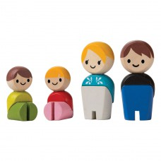 Buigpopjes blanke familie, Plan Toys
