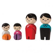 Buigpopjes Aziatische familie, Plan Toys