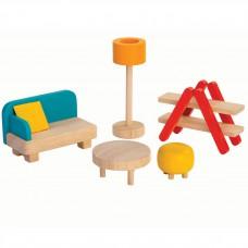 Woonkamer poppenhuis, Plan Toys