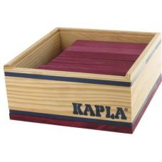 40 Kapla plankjes in kistje, paars