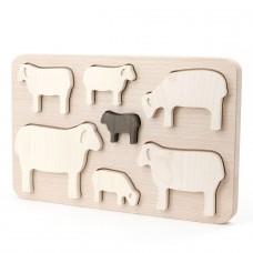 Houten puzzel schapen, Bajo