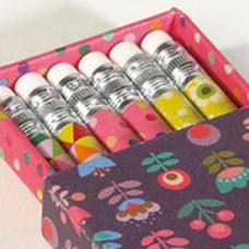 Doosje met 6 potloden Popette Prune, Mini labo