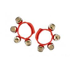 2 Bellenarmbanden met klittenband, rood