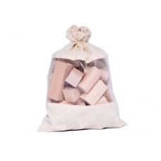 50 Blank houten blokken in zak, Ebert